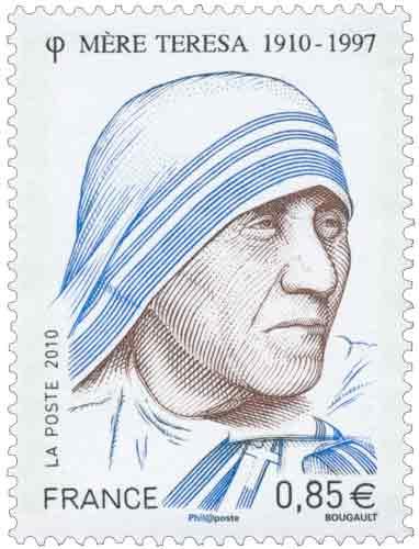 Timbre : 2010 Mère Teresa 1910-1977