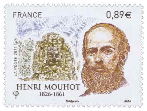 Timbre : HENRI MOUHOT 1826 - 1861
