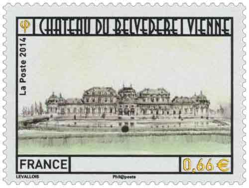 Timbre : Château du Belvédère Vienne en Autriche
