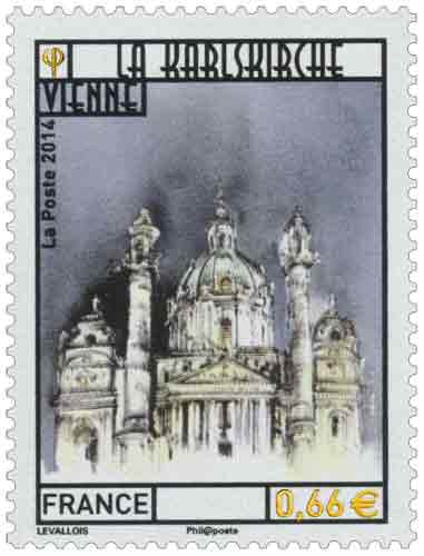 Timbre : La Karlskirche Vienne