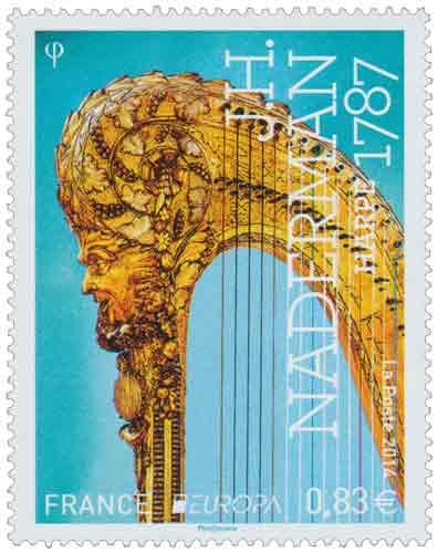 Timbre : Europa J.H. Naderman - Harpe 1787