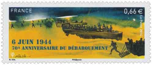 Timbre : 70ème Anniversaire du Débarquement - 6 Juin 1944