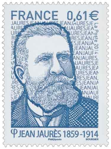 Timbre : Jean Jaurès 1859-1914