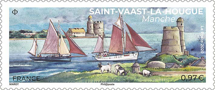 Timbre : 2020 Saint-Vaast-La-Hougue Manche