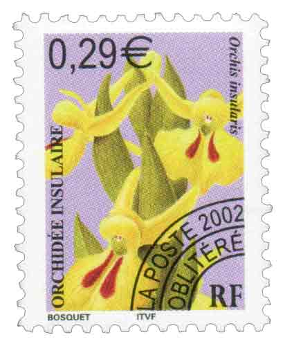 Timbre : ORCHIDÉE INSULAIRE Orchis insularis