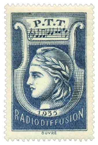 Timbre : PTT RADIODIFFUSION N° 1