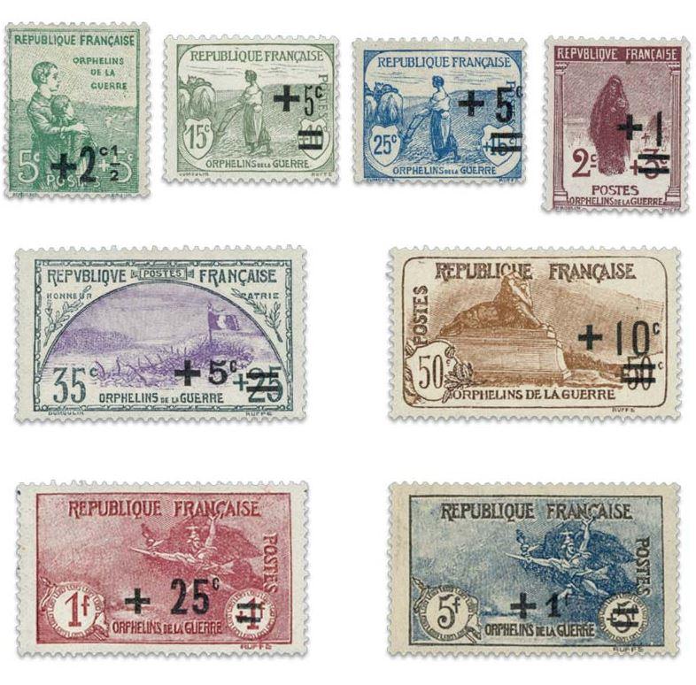 FRANCE N°162 A 169 ORPHELINS DE GUERRE