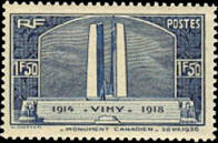 monument de Vimy à la mémoire des Canadiens