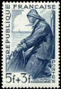 Les Métiers 1949 - Représentation d'un marin pêcheur