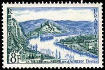 La vallée de la Seine aux Andelys et la château Gaillard