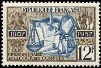Cent cinquantenaire de la Cour des Comptes (1807-1957)