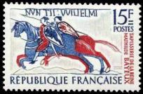 Fragment de la tapisserie de la reine Mathilde à Bayeux
