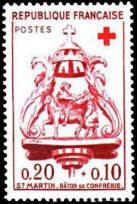 Croix-Rouge française.Bâton de confrérie