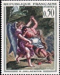 Lutte de Jacob avec l'Ange de Delacroix