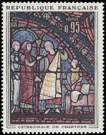 Les marchands de fourrure vitrail de la cathédrale de Chartres