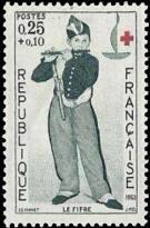 Croix rouge : Le fifre par Manet (1832-1883)