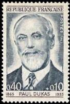 Paul Dukas (1865-1955) compositeur centenaire de sa naissance