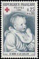 Croix rouge / Le bébé à la cuillère, œuvre de Renoir (1841-1919)