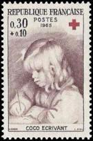 Croix rouge Coco écrivant, œuvre de Renoir (1841-1919)