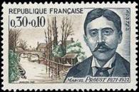 Marcel Proust ecrivain (1871-1922) et pont St Hilaire a Illiers (Eure et Loire)