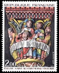 Le chapiteau de la Cène de l'église Saint Austremoine d'Issoire