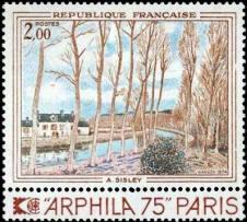 Canal du loing - Tableau de A Sisley