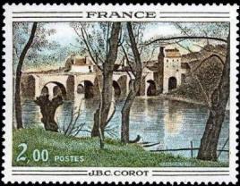 Le Pont de Nantes de Camille Corot