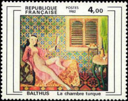 La chambre turc oeuvre de Balthus