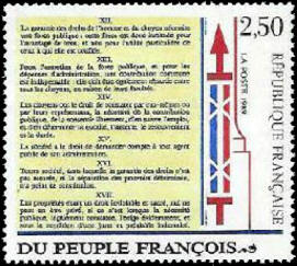 Bicentenaire de la déclaration des droits de l