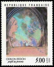 Profil de femme d'Odilon Redon