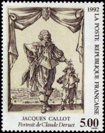 Portrait de Claude Deruet : gravure de Jacques Callot