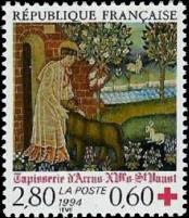 Tapisserie d'Arras XVᵉ s St Vaast YT N° 2915