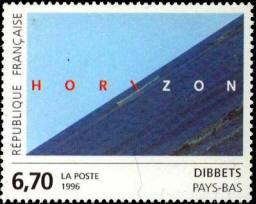 Horizon oeuvre originale de Dibbets (Pays-Bas)