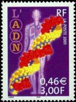 Le siècle au fil du timbre. Sciences : L'ADN