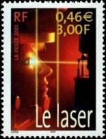 Le siècle au fil du timbre. Sciences : Le laser