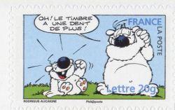Oh le timbre a une dent de plus