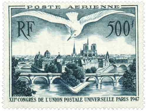 12e Congrès de l'Union postale universelle, à Paris. Vue de Paris