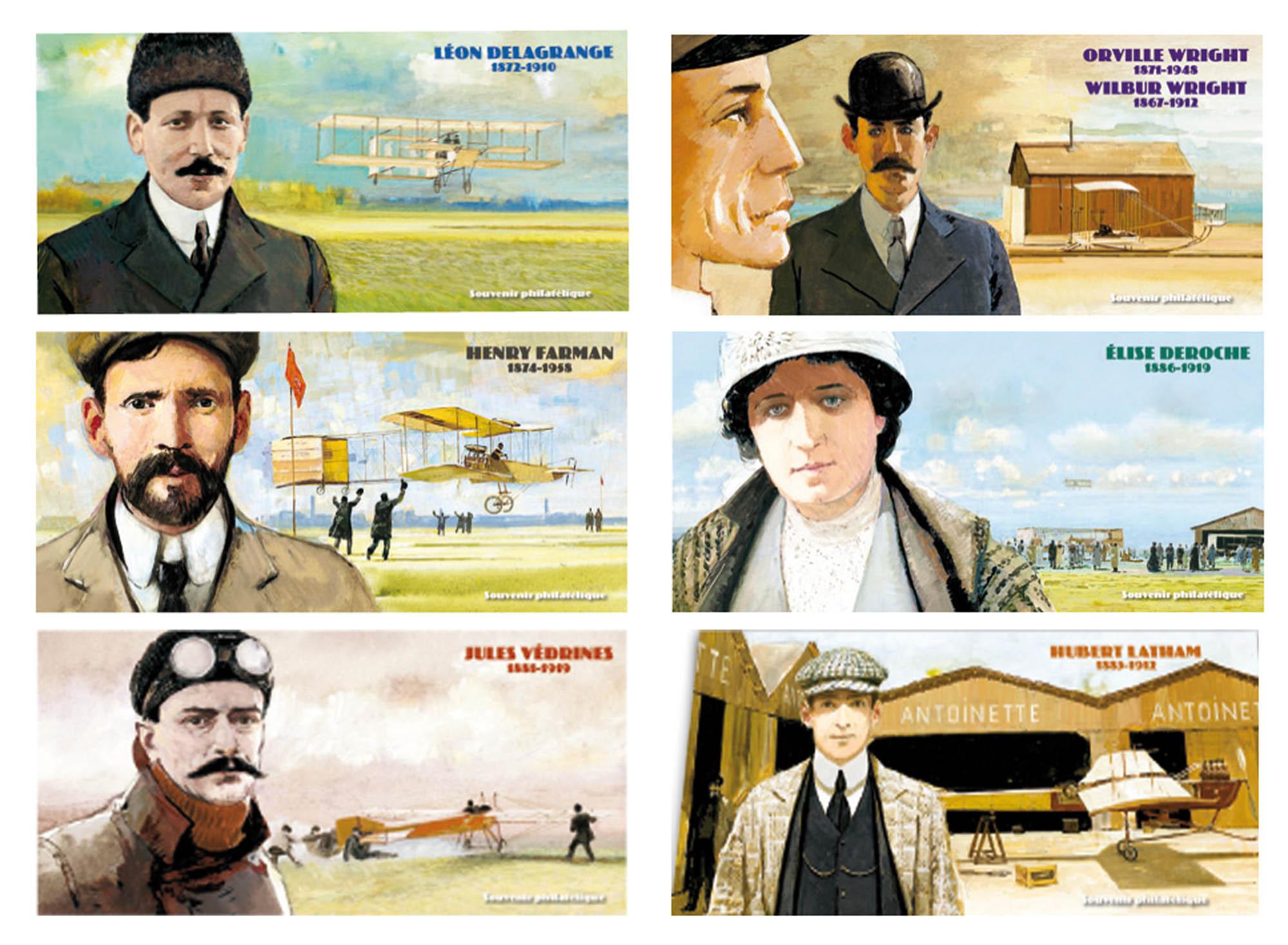 """Souvenirs """"Les pionniers de l'aviation"""""""
