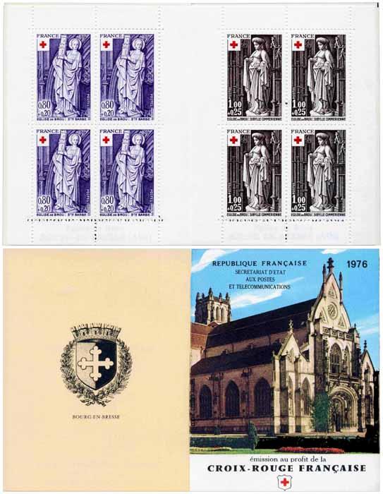 Sculptures religieuses de l'église de Brou. 1910 Sainte Barbe. 1911 Sibylle cimmérienne.