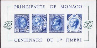 Centenaire du premier timbre de Monaco