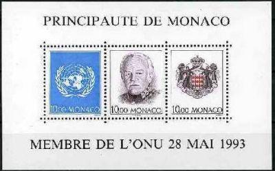 MONACO - Admission de la principauté comme membre de l'ONU