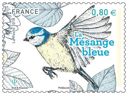 Timbre - Les oiseaux de nos jardins - La mésange