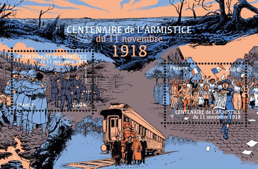 Bloc - Centenaire de l'Armistice de 11 novembre 1918