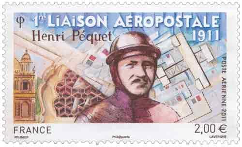 1ère liaison aéropostale mondiale. Henri Péquet (1888-1974)