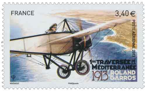 remière traversée de la Méditerranée - 1913 - Roland Garros.