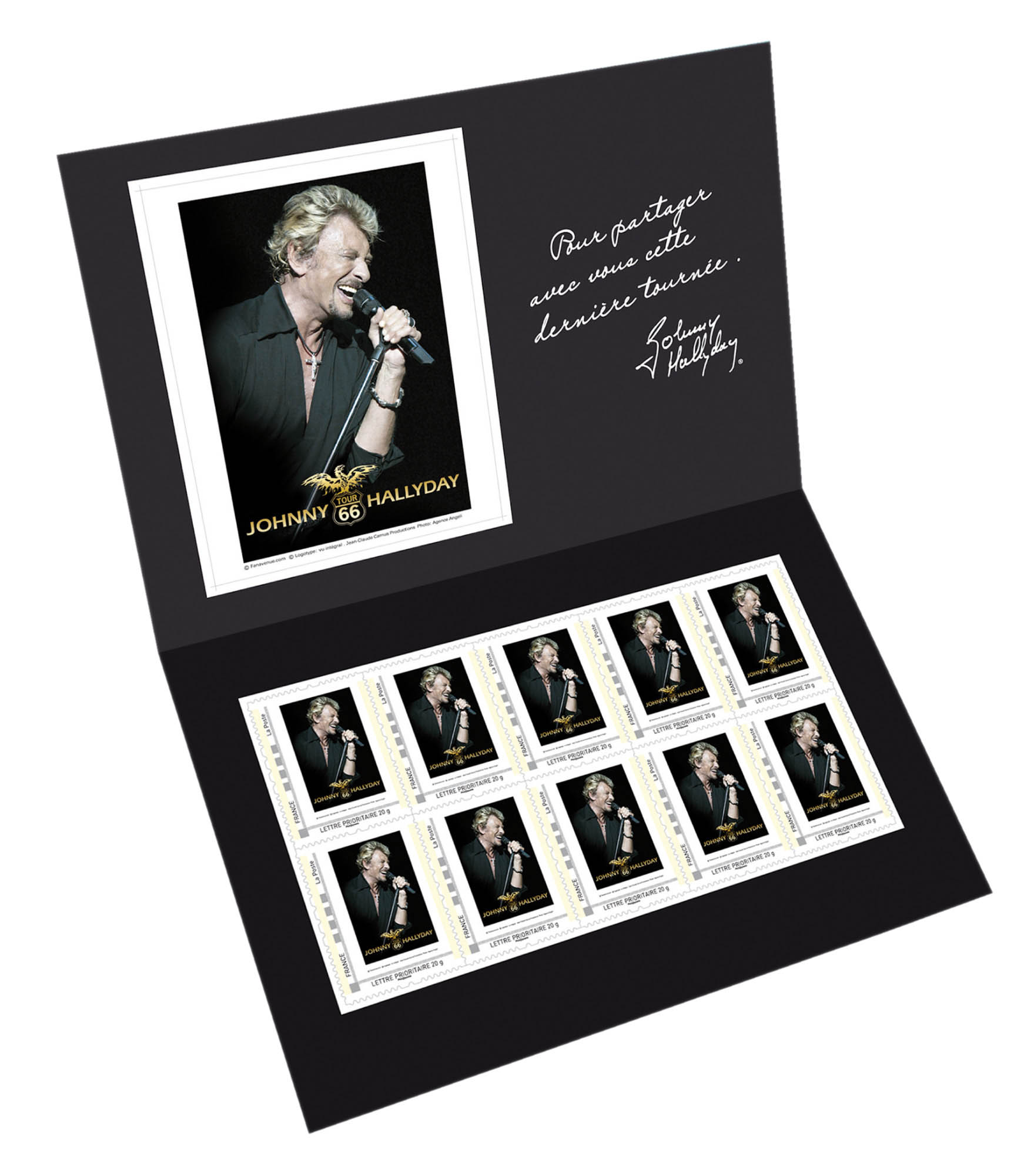Timbre : Collector Johnny Hallyday