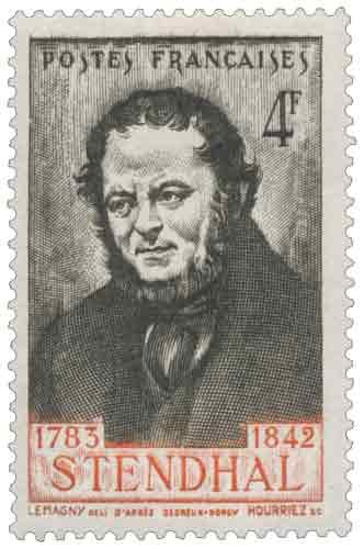 Centenaire de la mort de l'écrivain Henri Beyle, dit Stendhal