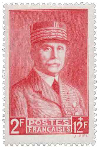 Au profit du Secours national. Effigie du Maréchal Pétain