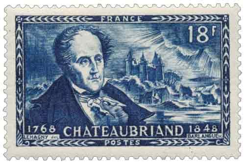Centenaire de la mort de François René, vicomte de Chateaubriand (1768-1848)