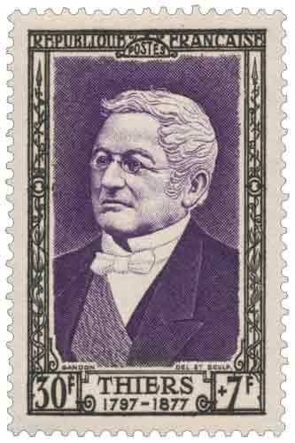 Adolphe Thiers (1797-1877), homme d'État, né à Marseille